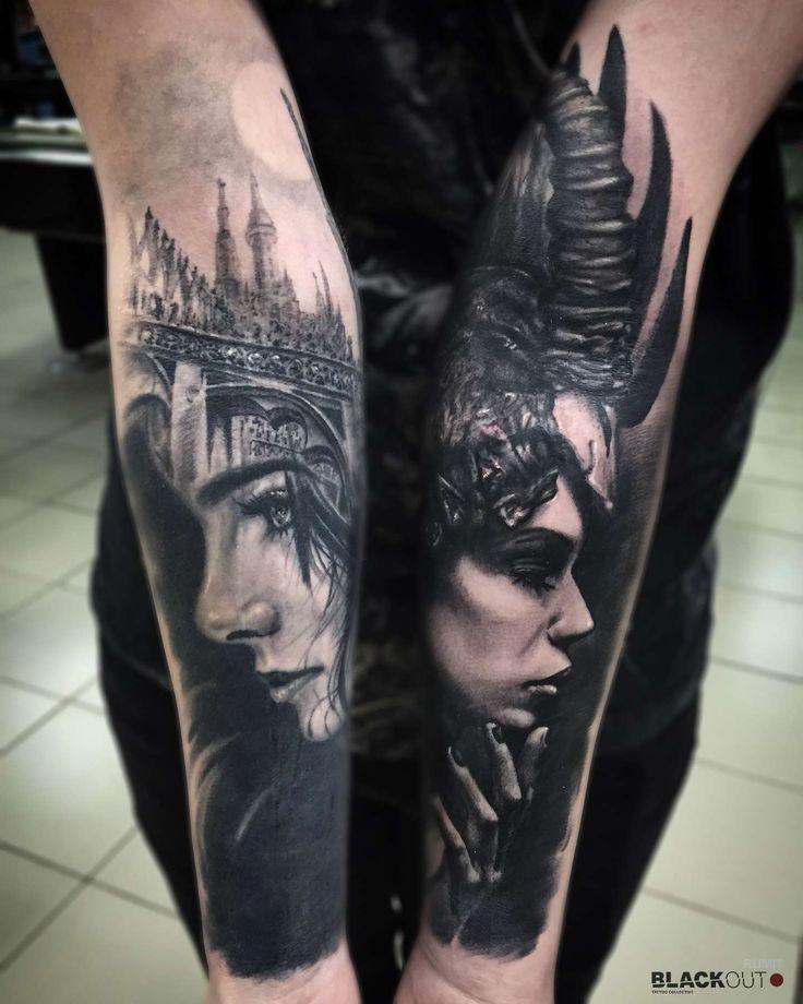 Les 214 meilleures images du tableau black work tattoos for Skin works tattoo