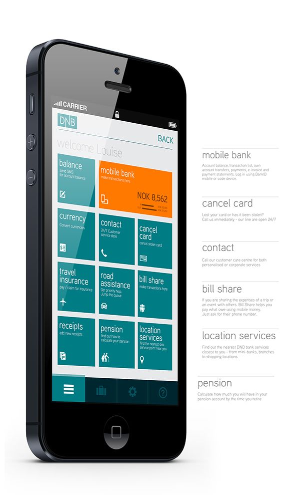 DNB.no Mobile App Re-design on App Design Served