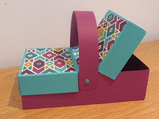 Double Flap Picnic Style Box Tutorial using Stampin' Up Products and Bohemian DSP