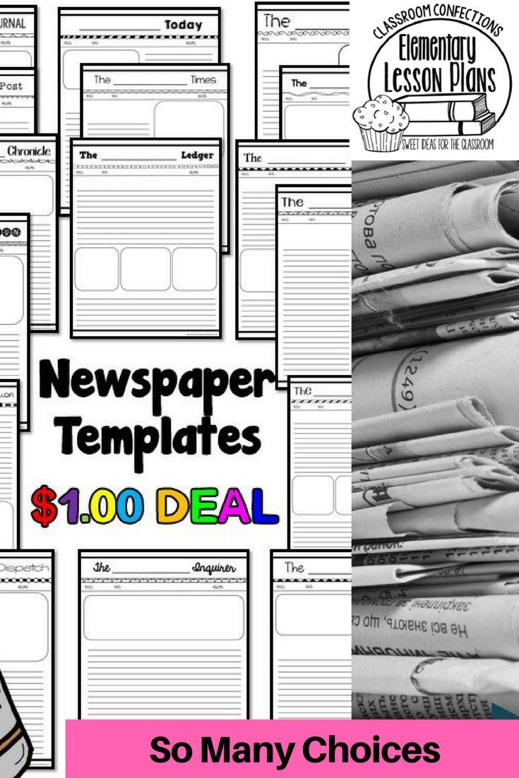 newspaper book report template   datariouruguay