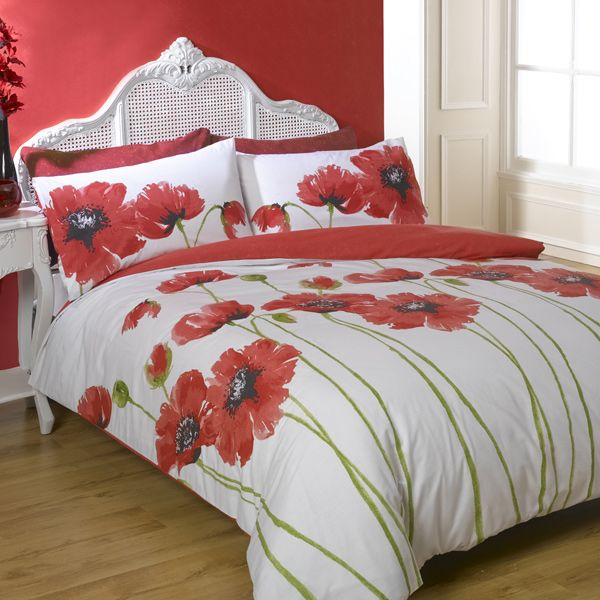 Poppy Chic At Home For The Pinterest Duvet Poppies And Red