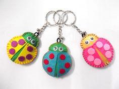 ladybug felt keychain