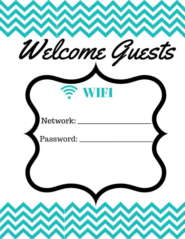 Free WIFI Password Printable   Lifestylequeenbee.com
