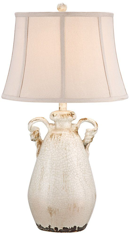 Isabella Ivory Ceramic Table Lamp By Regency Hill Lighting