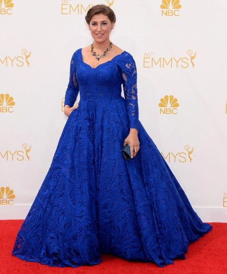 Mayim Bialik at the 2014 Emmy Awards...I would just die die DIE if I could wear this dress!!