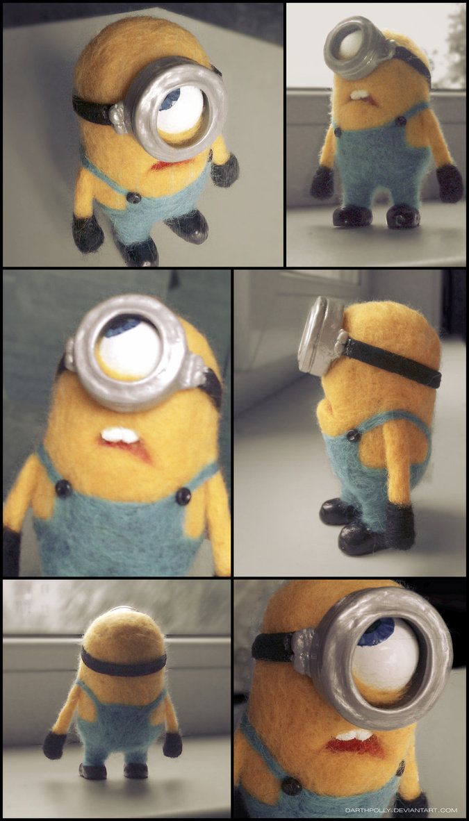 needle felted minion by ~Darthpolly on deviantART