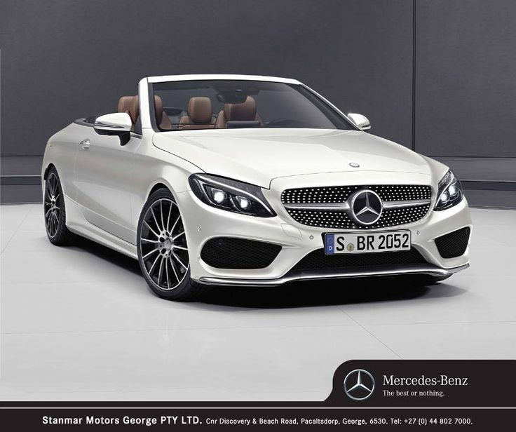The arrival of the #MercedesBenz C-Class Cabriolet adds yet another sporty and racy dream model to the C-Class family, and impresses with an expressive appearance whether driving with the top open or closed. Contact #TeamStanmar on 044 802 7000 for more information or to book a test drive.