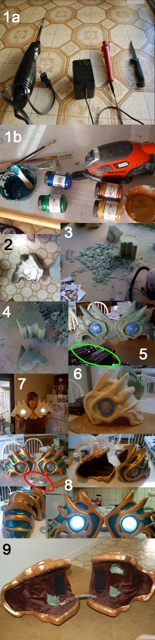Foam armor carving tutorial (explanation on actual page)