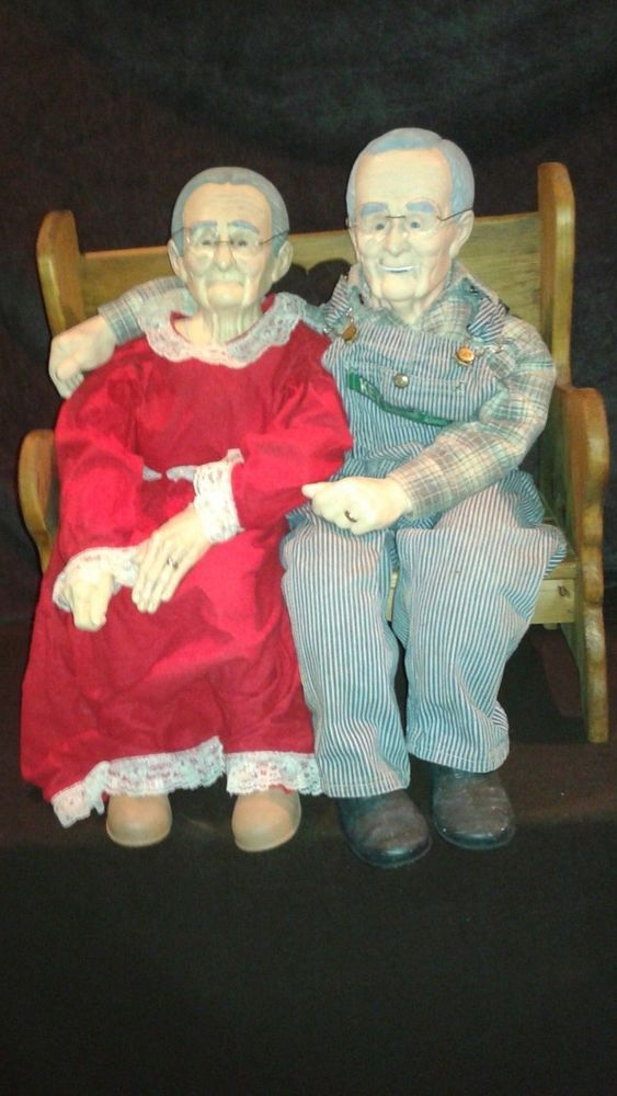 Large Grandma And Grandpa Porcelain Dolls Must See Video -9598