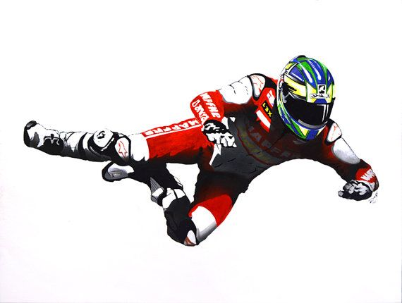 Crashed Biker by RescopeGallery on Etsy