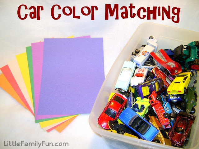Practice colors with toy cars!