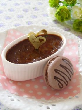 「【バレンタイン】クレームブリュレショコラ」ナナママちゃん | お菓子・パンのレシピや作り方【corecle*コレクル】
