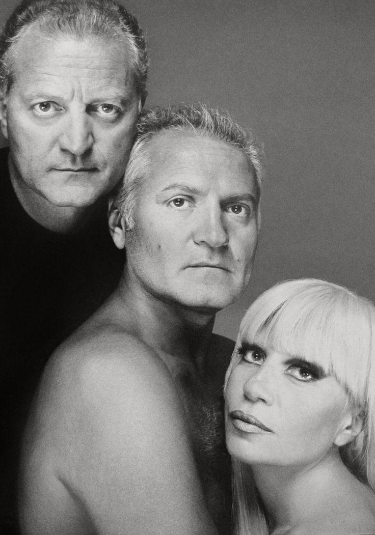 GIANNI, DONATELLA, & SANTO VERSACE photographed by RICHARD AVEDON