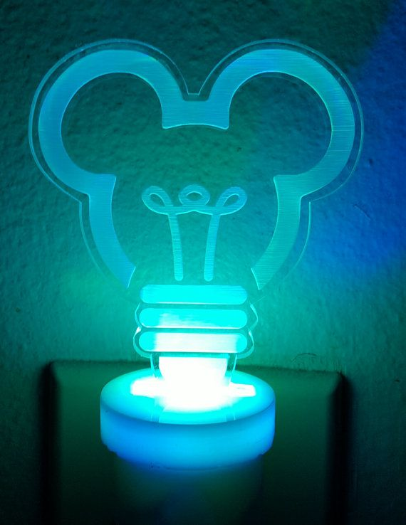 Mickey Mouse Color Changing LED Night Light