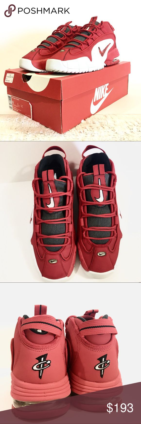 Nike Air Max Penny Hardaway University Red DS VVGUC, well taken care of. Box included. Nike Shoes Sneakers