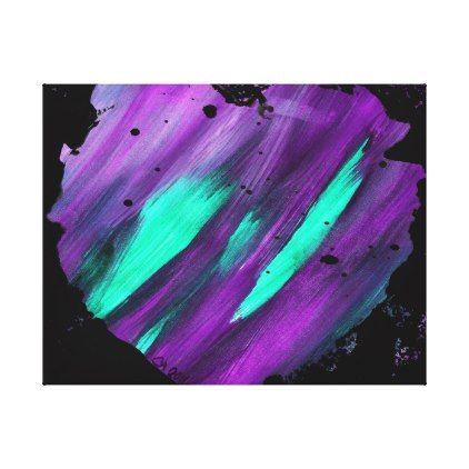 Purple Abstract Heart Splatter Painting Canvas - heart gifts love hearts special diy