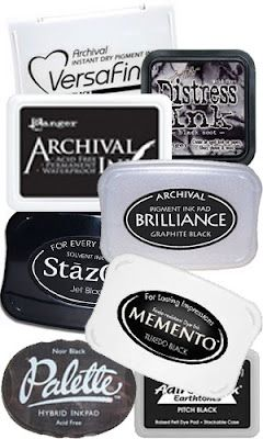 Great description of black inks, the best and how to use them. I agree completely. Versafine, StazOn and Memento. Archival, Brilliance VersaCraft are also good for different things.