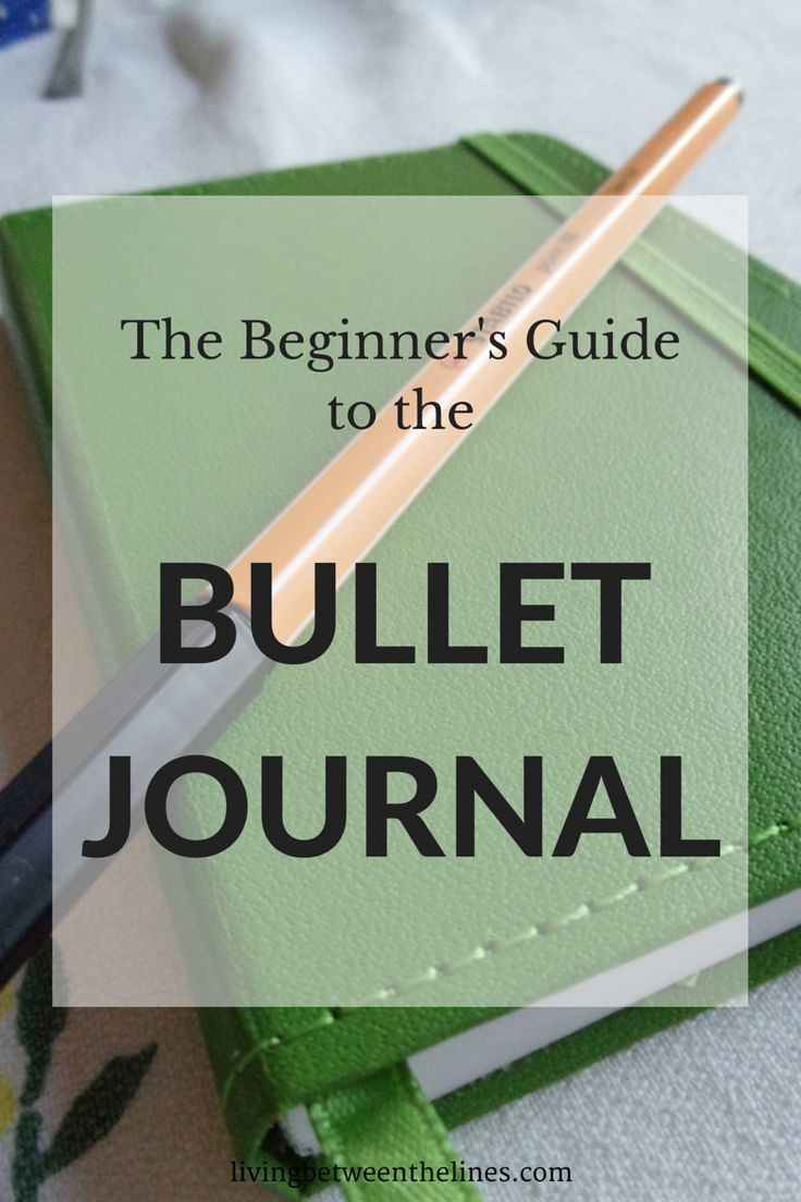 bullet journal beginning