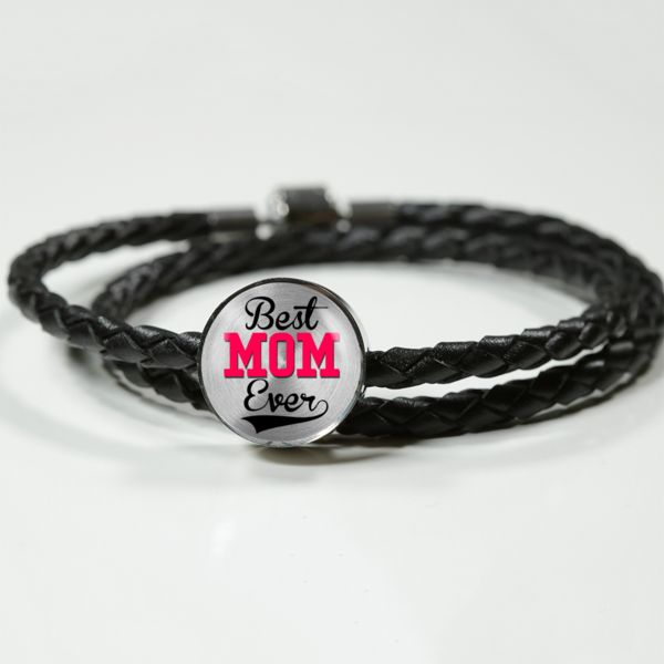 Leather Charm Bracelet Gift Birthday Special Occasion Surprise Gift for Mom