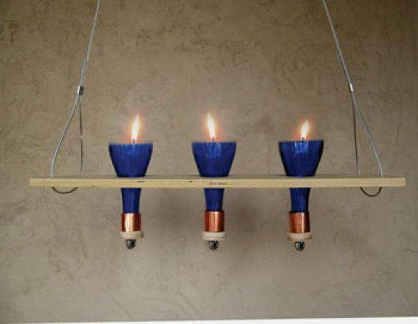 23 wine bottle chandelier