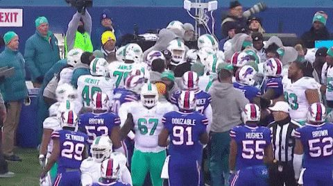 Bills' Jerry Hughes not fined for sideline incident with Dolphins coach - The Buffalo News