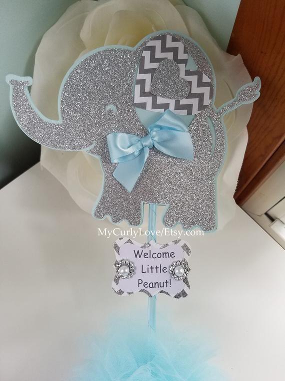 Elephant Gender Reveal Baby Shower Centerpiece Neutral Baby Etsy Centros De Mesa De Baby Shower Boy Baby Shower Ideas Ducha De Bebé Elefante