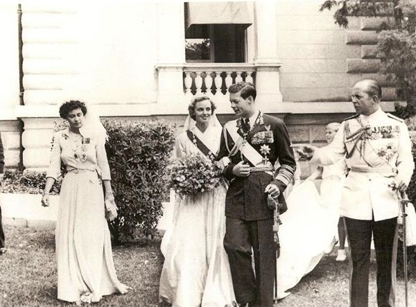 Miss Honoria Glossop:  Wedding of King Michael and Queen Anne Marie of Romania, with Queen Frederika and King Paul of Greece i