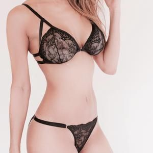 SET COCO BLACK LACE BRALETTE + PANTY