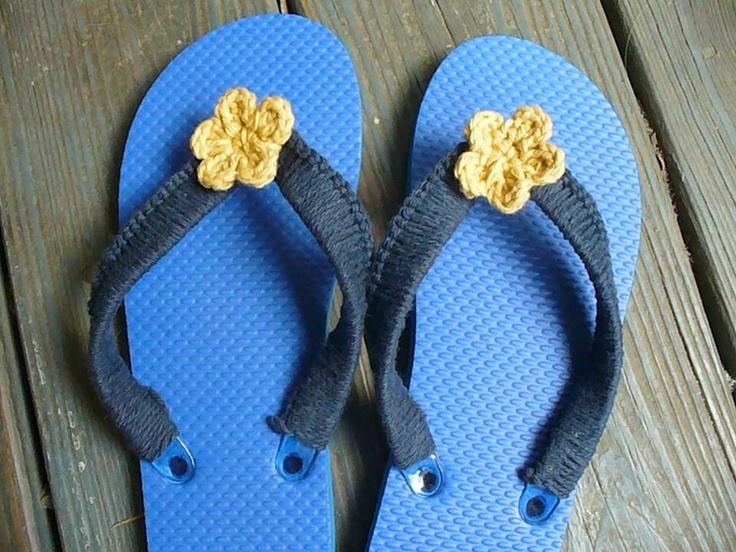 Crocheted flip flops | Projects I've done. | Pinterest ...