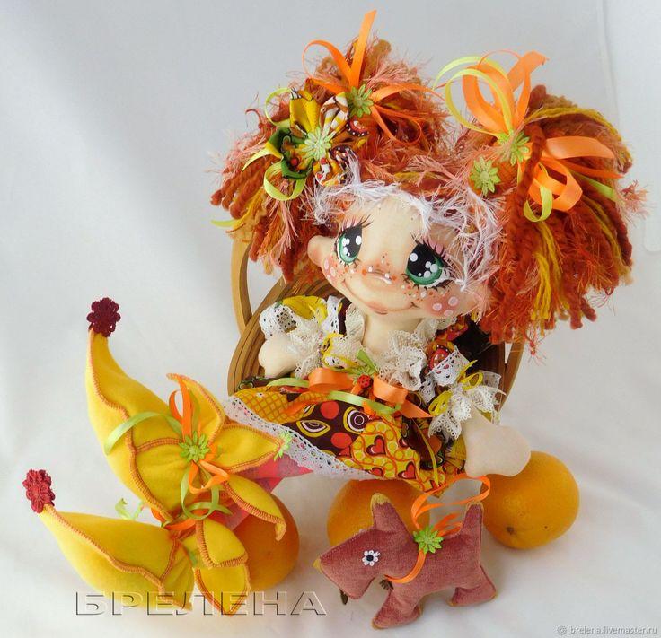 Купить Текстильная кукла Рыжик, рыжая Феечка. Интерьерная текстильная кукла в интернет магазине на Ярмарке Мастеров
