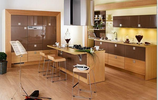 Relook your kitchen with wood