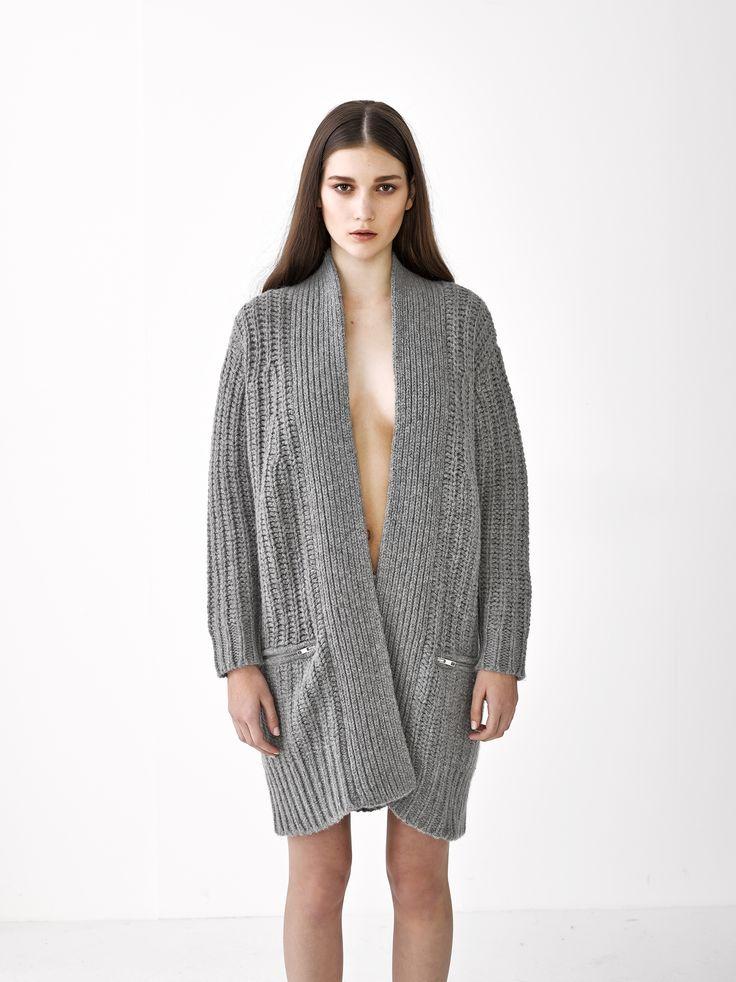 Penny Coat Cardigan / Grey Marle