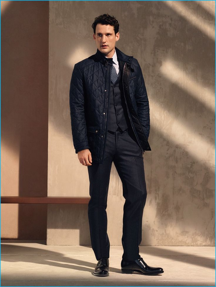 22 best Quilted Jacket images on Pinterest   Menswear, Quilted ... : quilted jacket over suit - Adamdwight.com