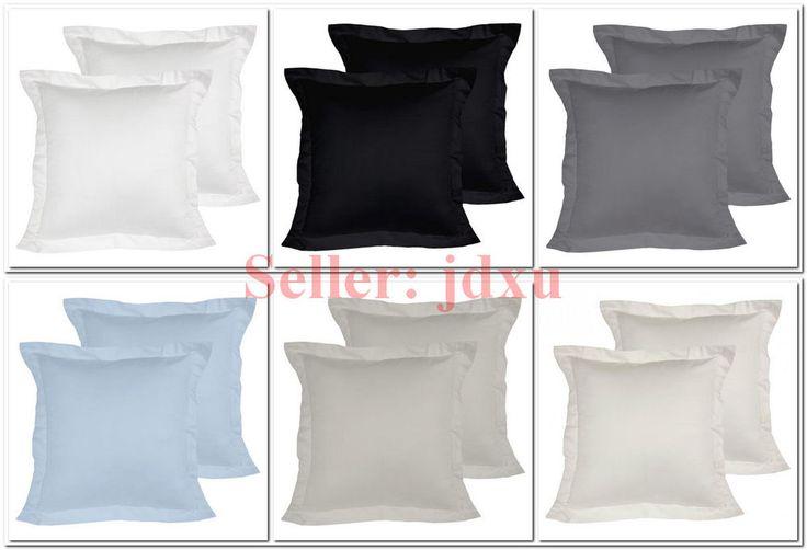 2 x 1000TC European Pillow Cases Cotton Rich 65x65cm - NEW - CLEARANCE SALE