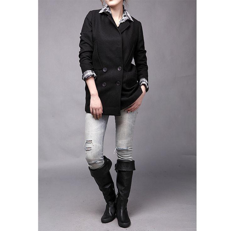 2013 Slim manteaux de laine Mme