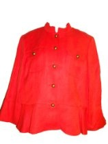 WOMEN'S RALPH LAUREN DRESS JACKET SIZE 14 (PAPRIKA)/ (ORANGE)