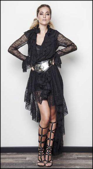 📢 ¿Vistes a la  moda  Te encantará el  vestido Chorreras largo de ... c6b0c026d96b1