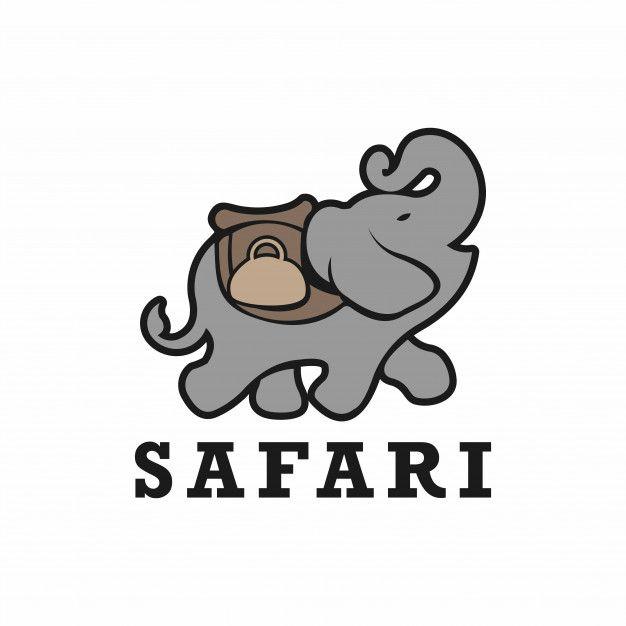 African Safari Elephant Logo