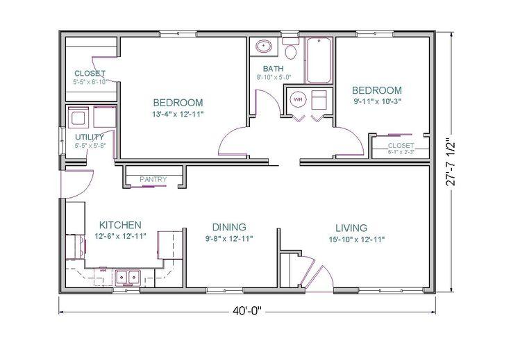 1500 Sq Ft House Plans Open Floor Plan 2 Bedrooms The