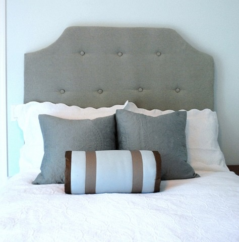 Make your own fabric-covered, tufted headboard.  AMAZING tutorial.  Her entire blog is just awesome.