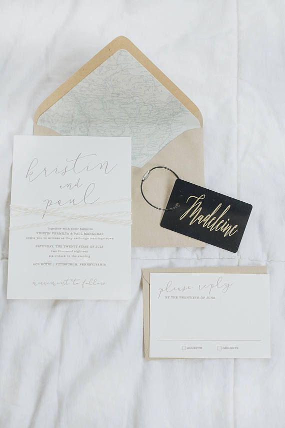 Black and Gold Personalized Luggage Tag Wedding