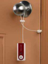 Door alarm. Great for hostels, trains and any other places you may not feel super safe.