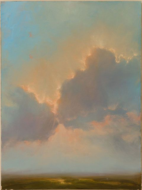 """Remember This Moment 30x40 oil on canvas : Adriano Farinella ....but I call it """"Kissing Clouds"""""""