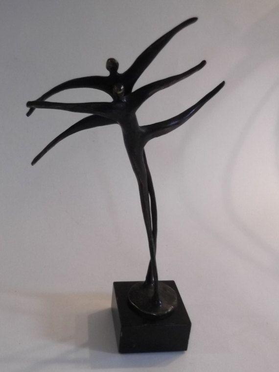 Bronzen sculptuur van Corry Amerlaan van MrsMajestaVintage op Etsy