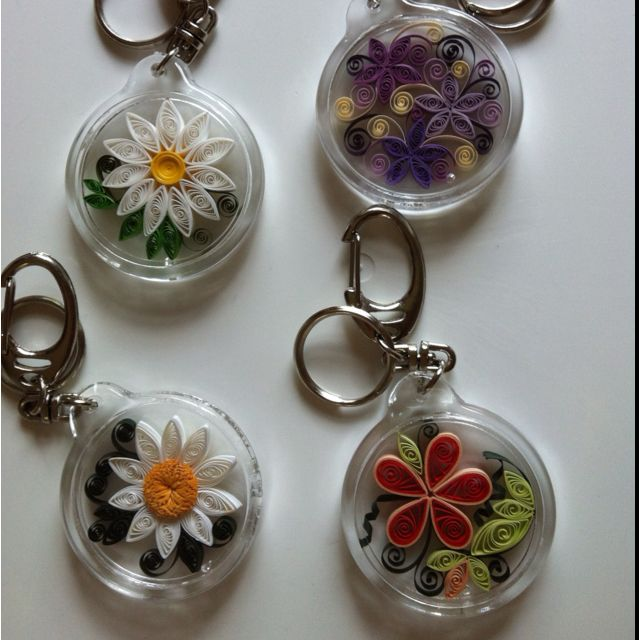 More Quilling Designs As Keychains Quilling