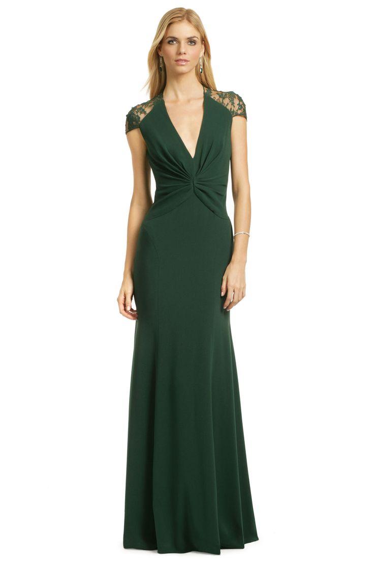Reem Acra Jade Serenity Gown In 2021 Green Evening Dress Dresses Gowns [ 1104 x 736 Pixel ]