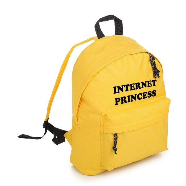 INTERNET PRINCESS BACKPACK (€19) ❤ liked on Polyvore featuring bags, backpacks, gothic backpack, backpack bags, vegan leather backpack, grunge backpack and fake leather backpack