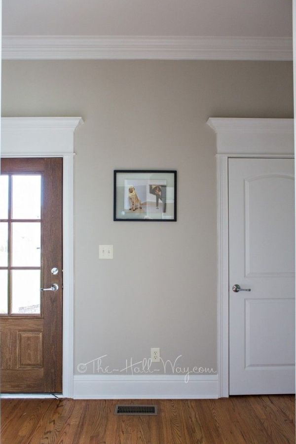 Mud Room with Behr Sculptor Clay and Silky White Trim - A BM Revere Pewter Alternative - Behr Sculptor Clay #greige #neutral #paint by Mgauna