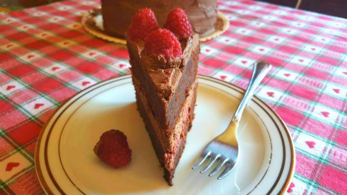 Chocolate Raspberry Cake - One Fool Pie