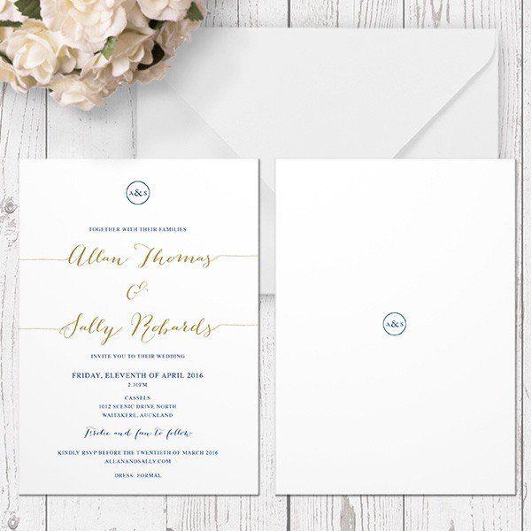 CLASSIC GLAM - WEDDING INVITATION
